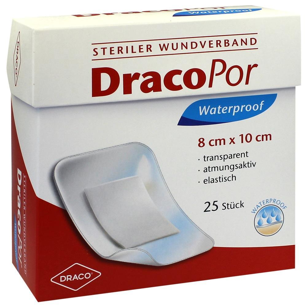 00114264, Dracopor Waterproof Wundverband steril 8cmx10cm, 25 ST