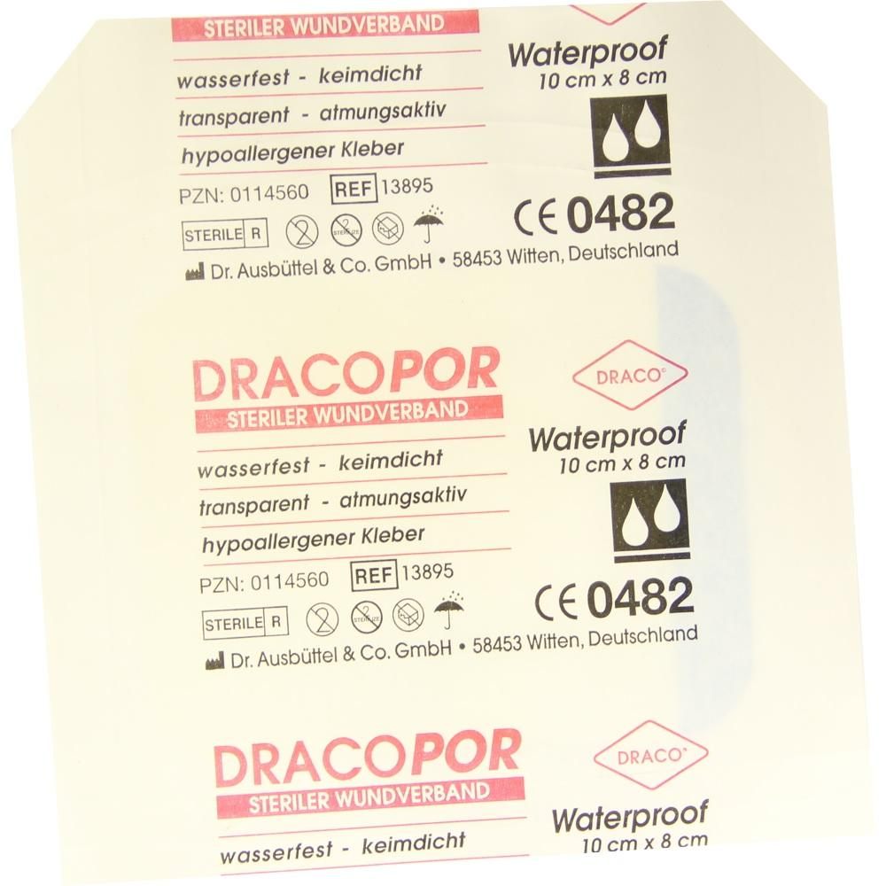 00114560, Dracopor Waterproof Wundverband steril 8cmx10cm, 1 ST