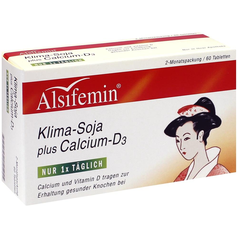 00116441, Alsifemin Klima-Soja plus Calcium D3, 60 ST