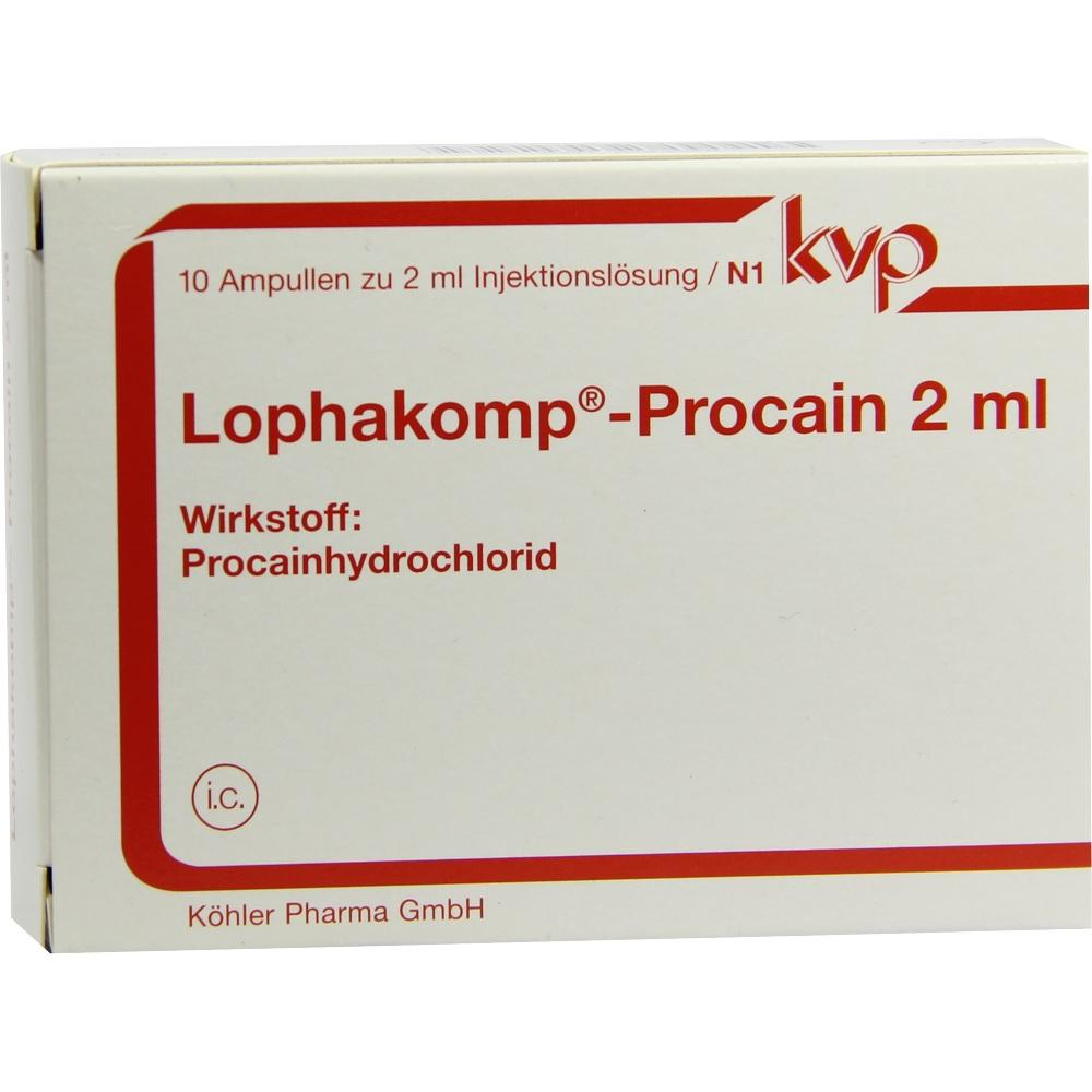 00123926, Lophakomp Procain 2ml, 10X2 ML
