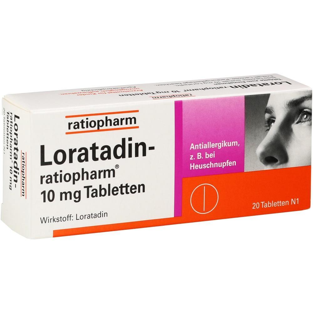 00142740, Loratadin-ratiopharm 10mg Tabletten, 20 ST
