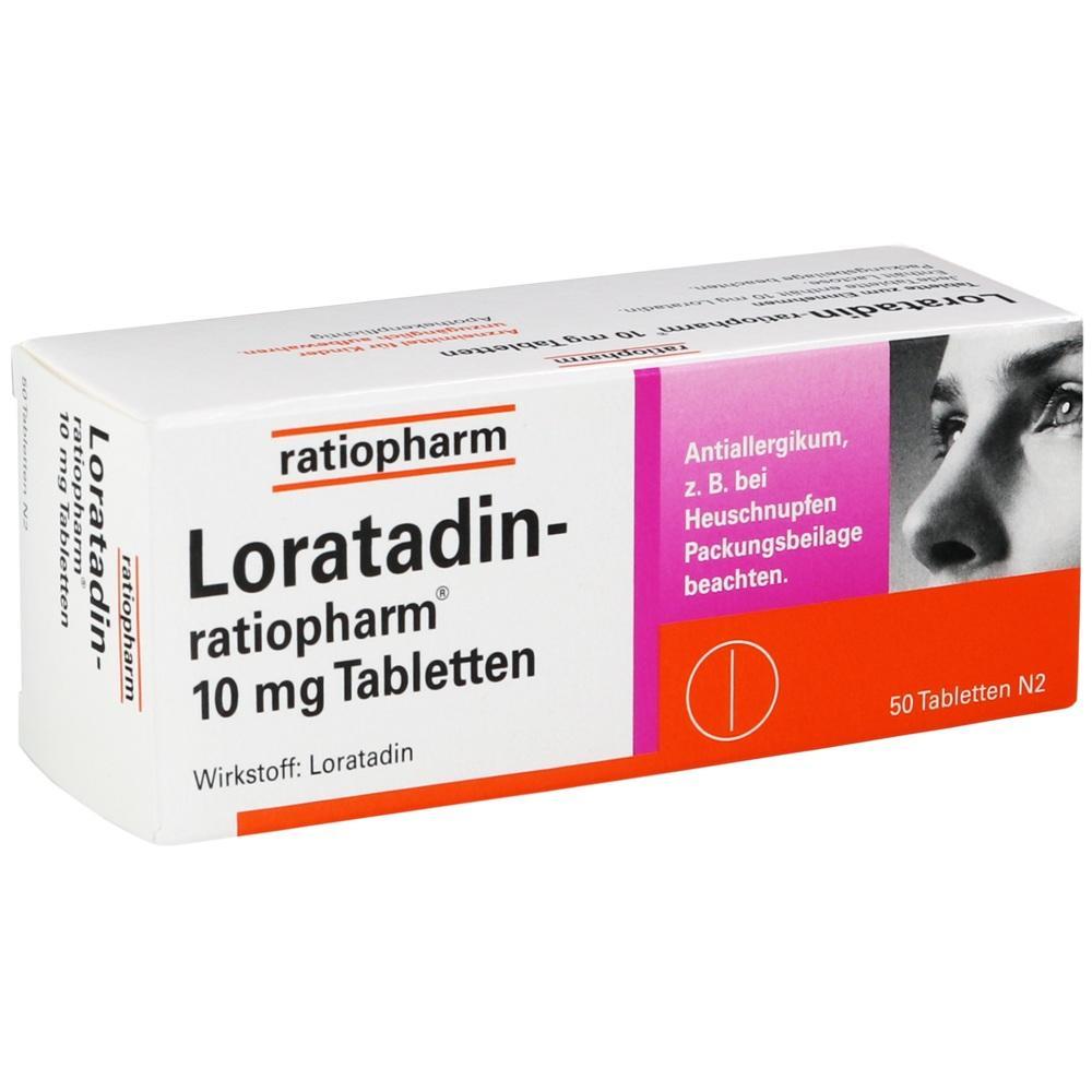 00142906, Loratadin-ratiopharm 10mg Tabletten, 50 ST