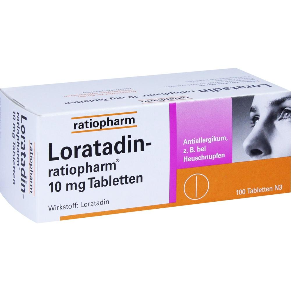 00142912, Loratadin-ratiopharm 10mg Tabletten, 100 ST