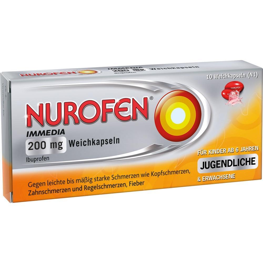 00146519, Nurofen Immedia 200 mg Weichkapseln, 10 ST