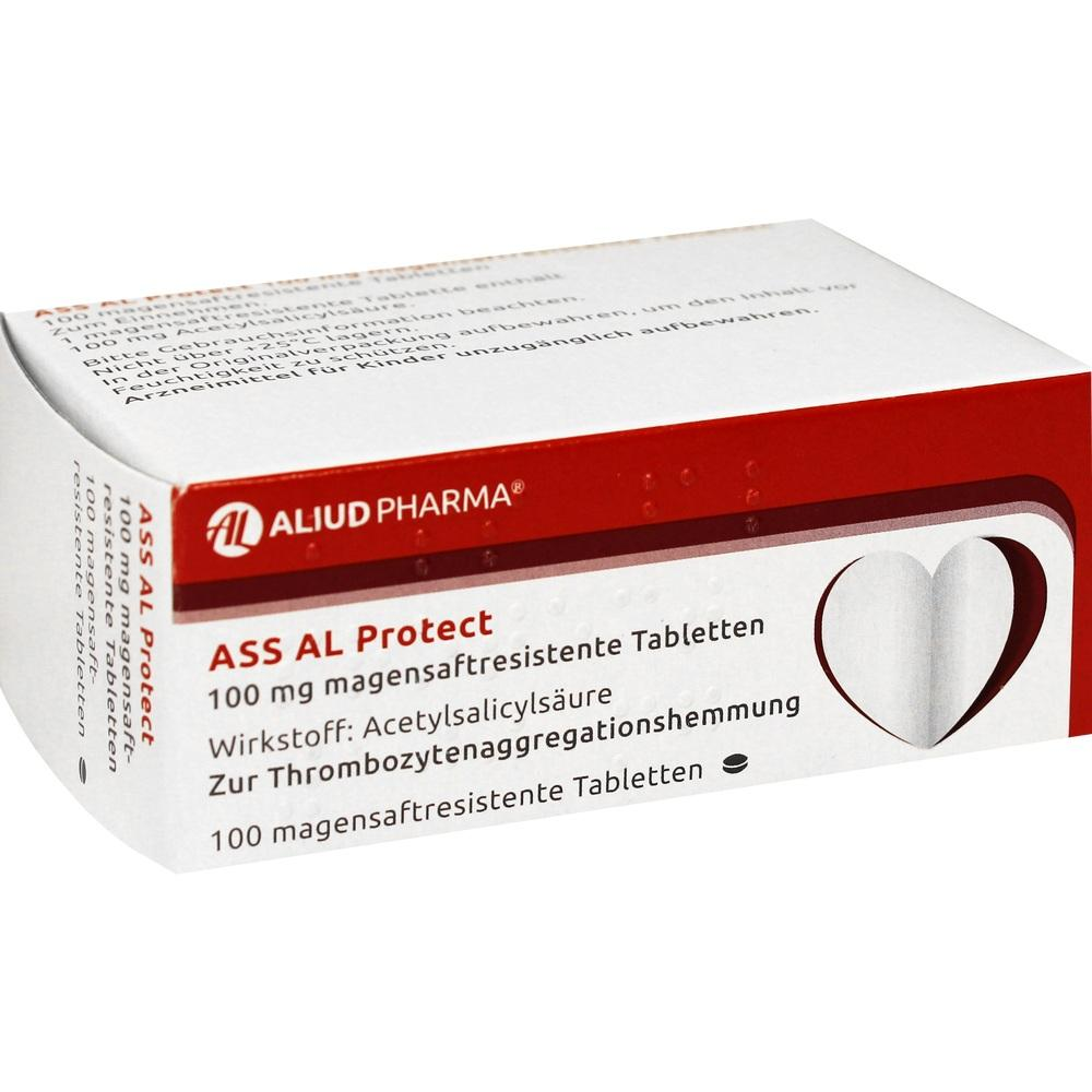 00149989, ASS AL Protect 100mg magensaftresistente Tabletten, 100 ST