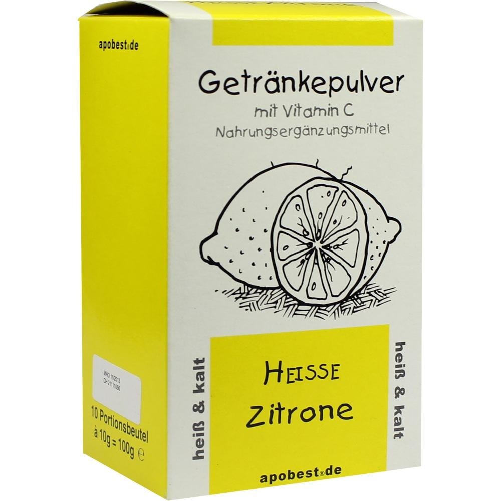 HEISSE Zitrone Getränkepulver mit Vitamin C