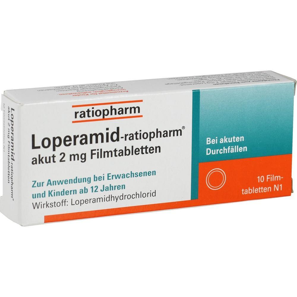 00251191, Loperamid-ratiopharm akut 2mg Filmtabletten, 10 ST