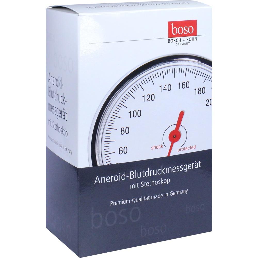 BOSO Egotest Blutdruckm.schwarz aneroid m.Steth.
