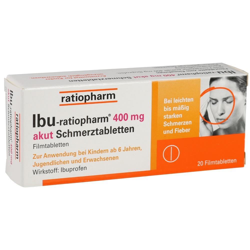 00266040, Ibu-ratiopharm 400mg akut Schmerztabletten, 20 ST