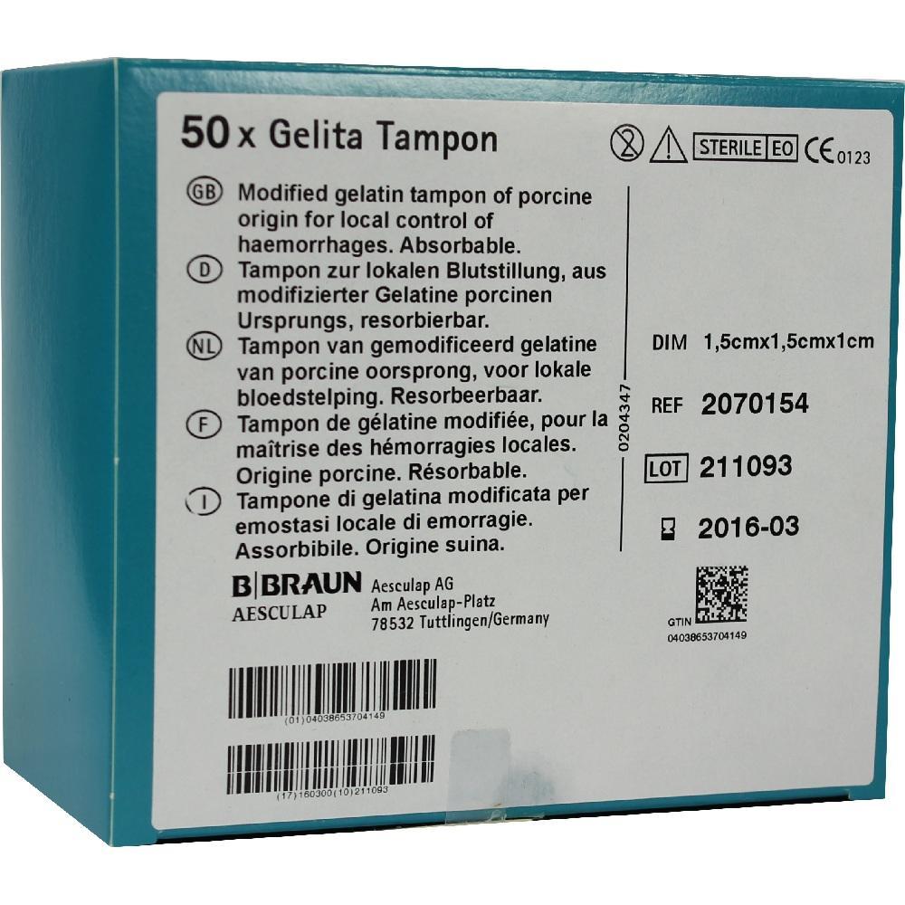GELITA-Tampon 1x1,5x1,5 cm