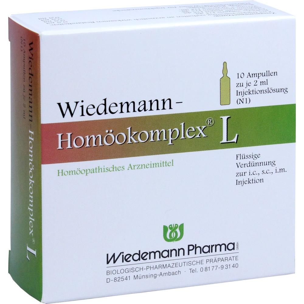 Wiedemann Pharma GmbH WIEDEMANN Homöokomplex L Ampullen 00507265