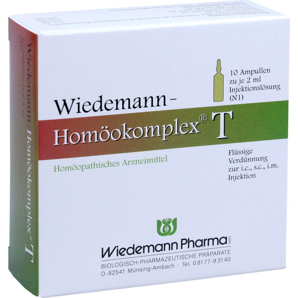 Wiedemann Pharma GmbH WIEDEMANN Homöokomplex T Ampullen 00507325