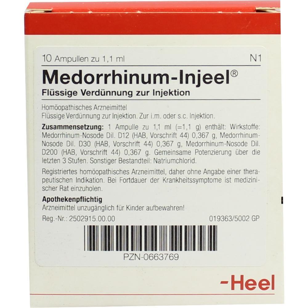 MEDORRHINUM Injeel Ampullen