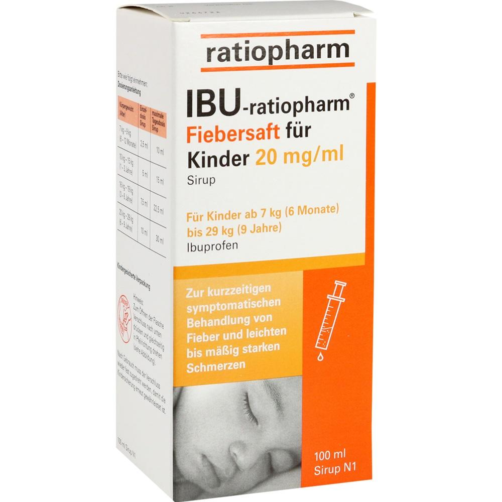 00696266, IBU-ratiopharm Fiebersaft für Kinder 20 mg/ml, 100 ML