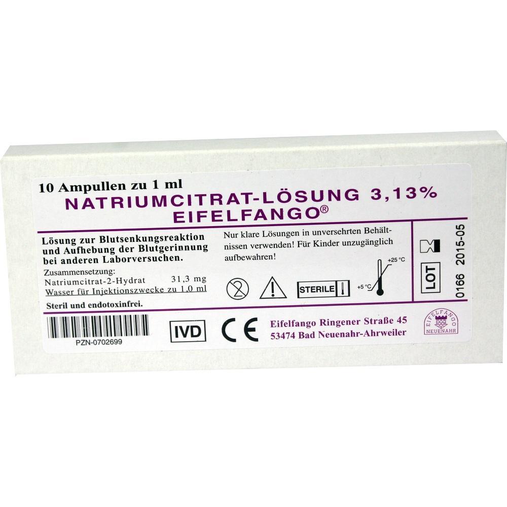 NATRIUM CITRICUM 3,13% Ampullen