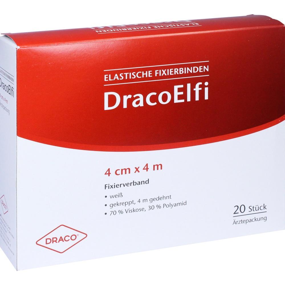 00736267, DracoELFI Elast. Fixierbinde gekreppt 4mx4cm, 20 ST
