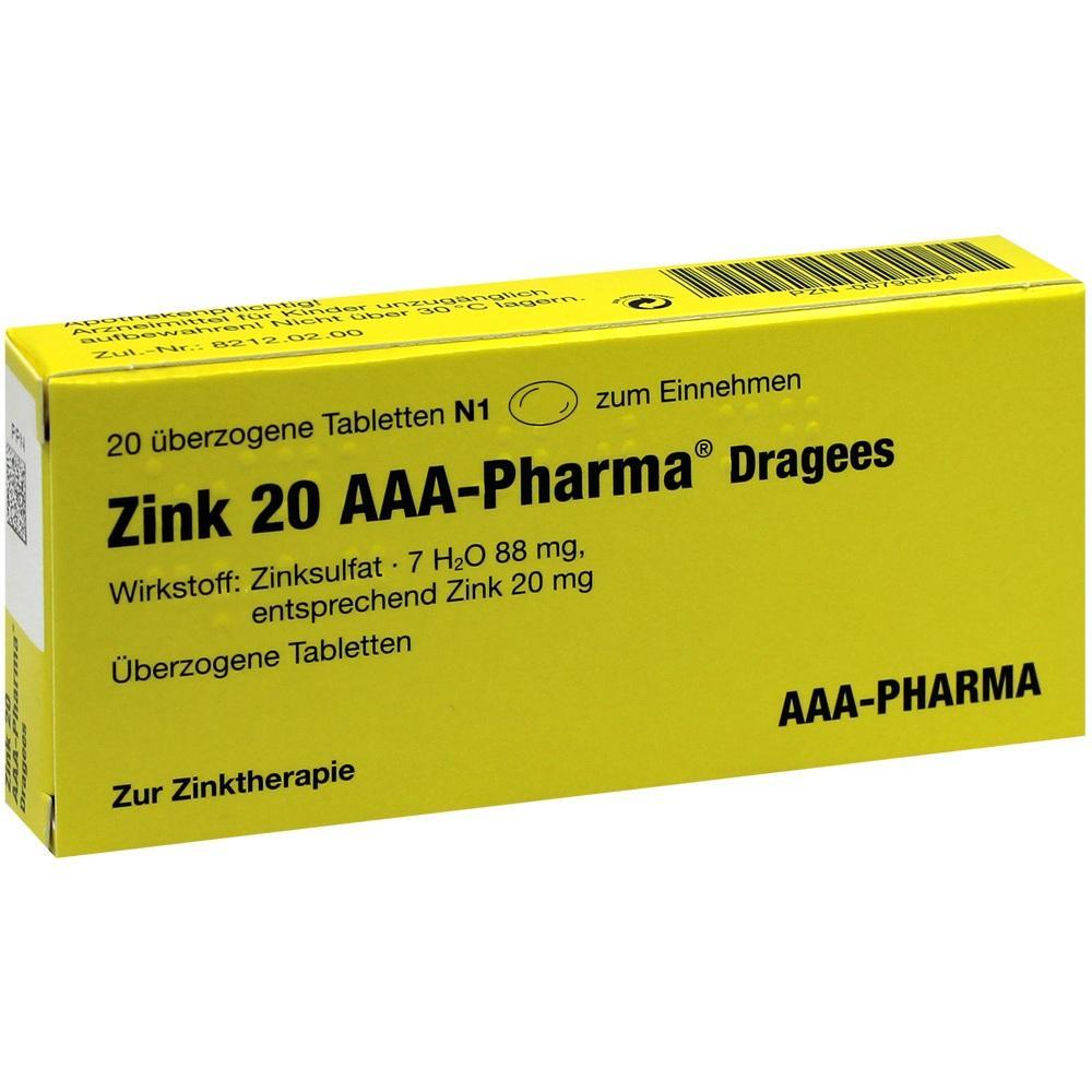 Zink 20 AAA-Pharma