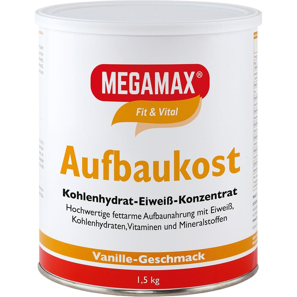 00815558, MEGAMAX Aufbaukost Vanille, 1.5 KG
