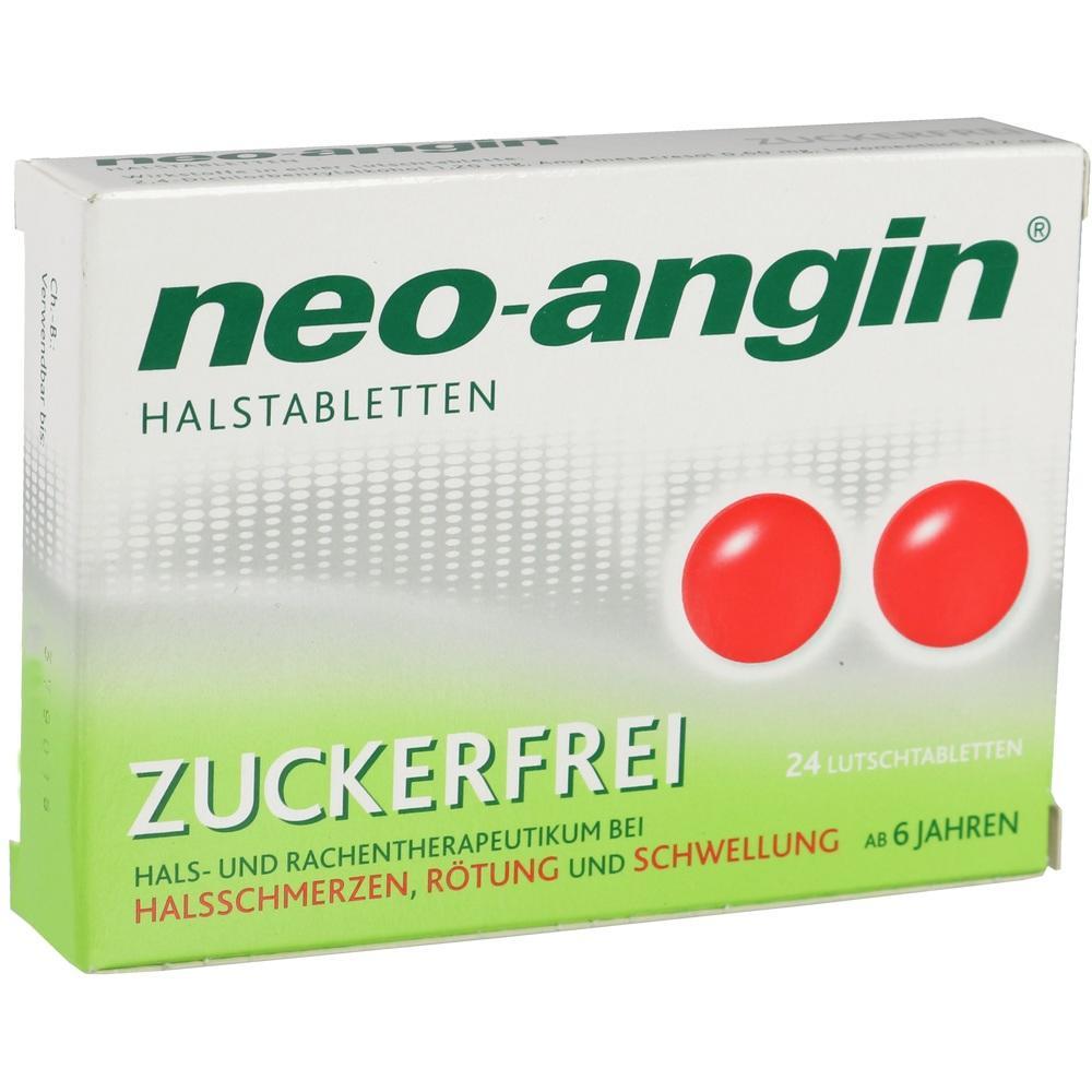 00826616, neo-angin Halstabletten zuckerfrei, 24 ST