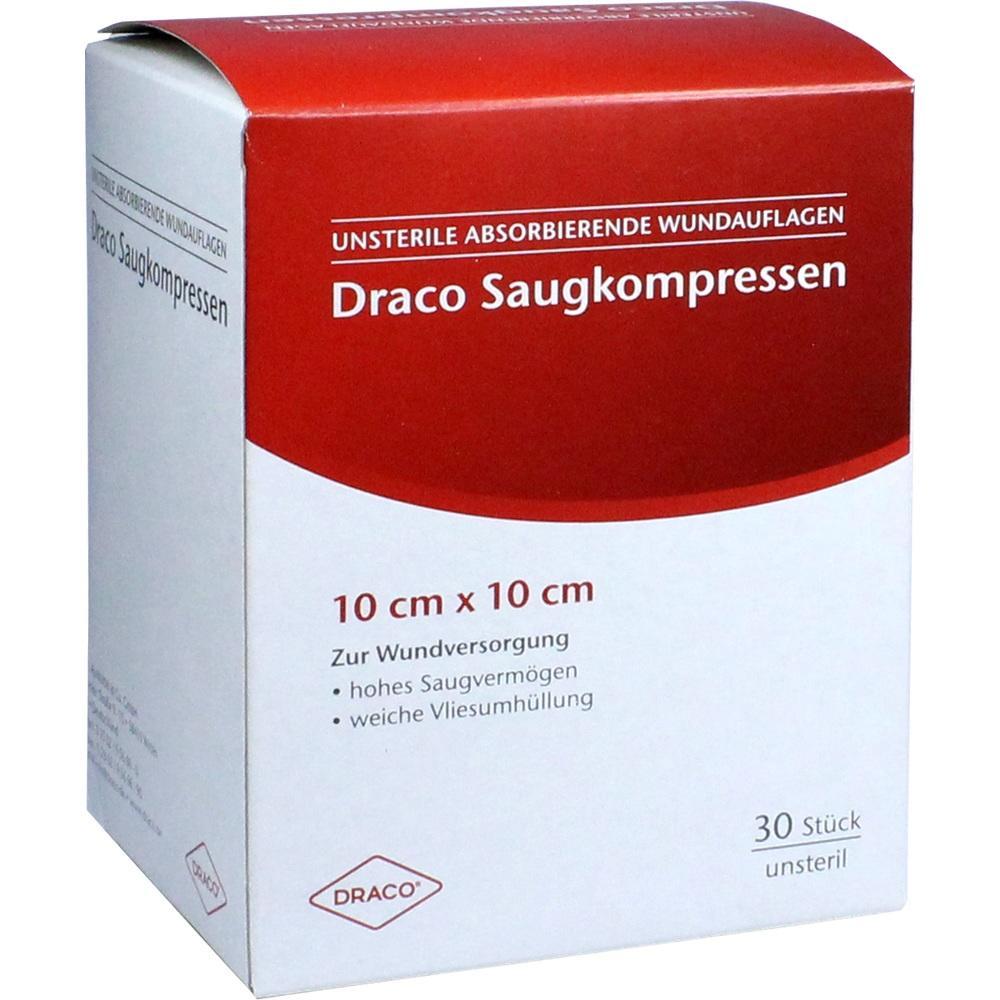 00948779, Saugkompressen unsteril 10x10cm Draco, 30 ST