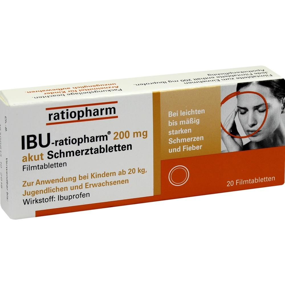 00984723, Ibu-ratiopharm 200mg akut Schmerztabletten, 20 ST
