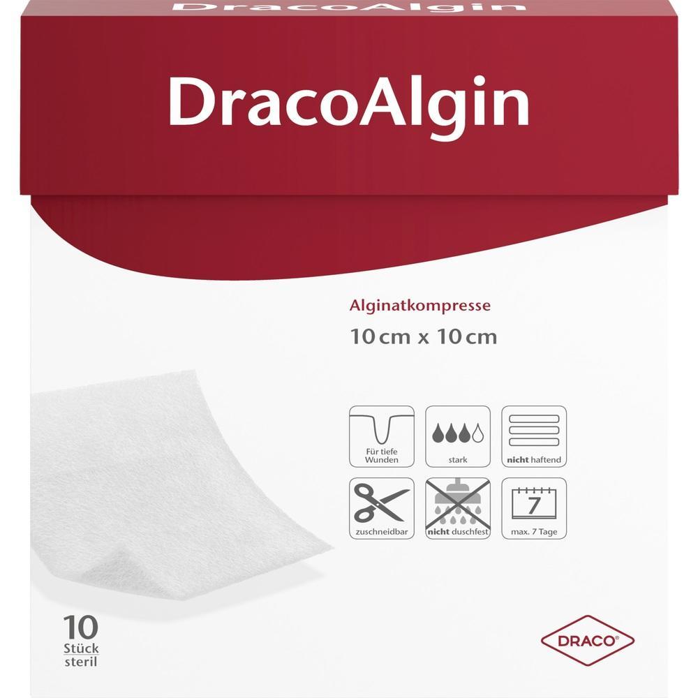 01003785, DracoAlgin 10x10cm Alginat Wundauflage, 10 ST