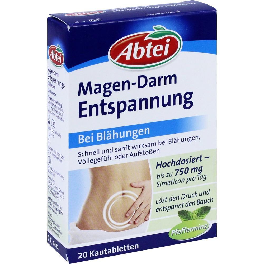 01014240, Abtei Magen-Darm-Entspannungstabletten, 20 ST