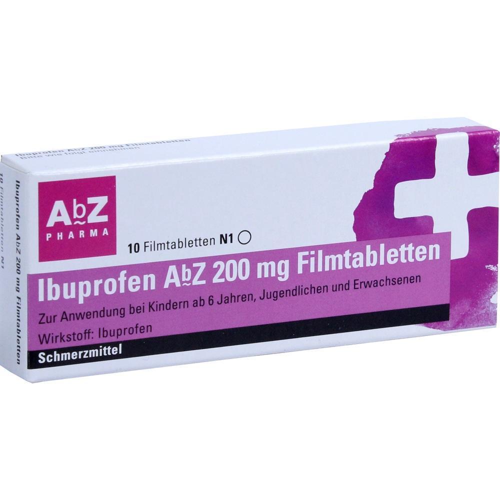 01016032, Ibuprofen AbZ 200 mg Filmtabletten, 10 ST