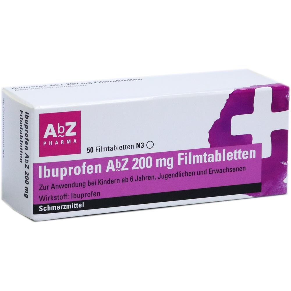 01016055, Ibuprofen AbZ 200 mg Filmtabletten, 50 ST