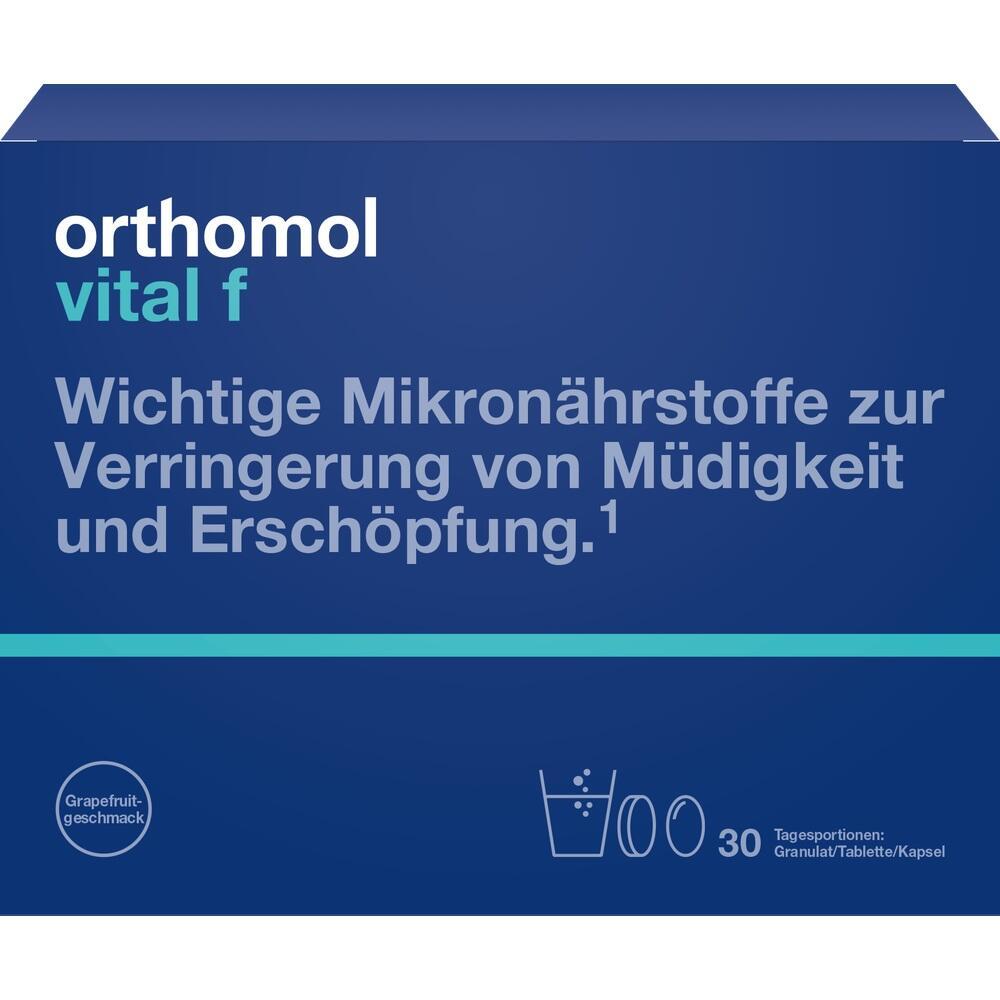 01028526, Orthomol Vital F Grapefruit Granulat/Kaps, 30 ST