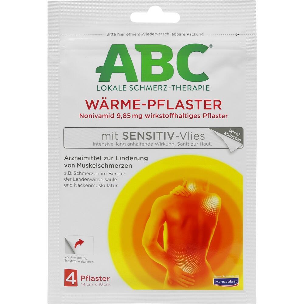 01033409, ABC Wärme-Pflaster sensitive Hansaplast med, 4 ST