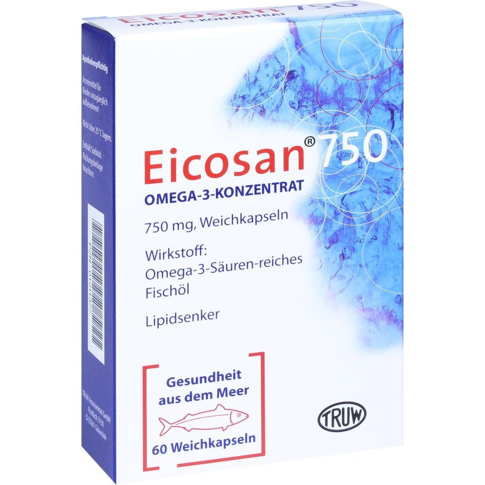 01211377, Eicosan 750 Omega-3-Konzentrat, 60 ST