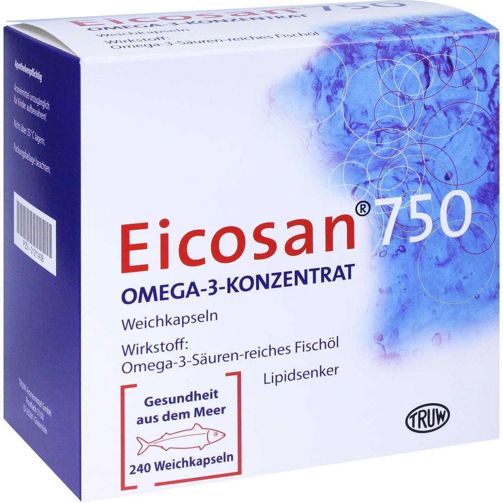 01211408, Eicosan 750 Omega-3-Konzentrat, 240 ST