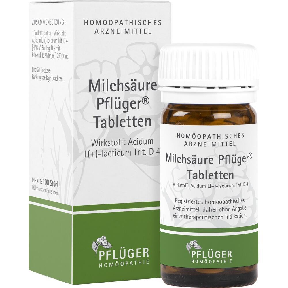 01222381, Milchsäure Pflüger Tabletten, 100 ST