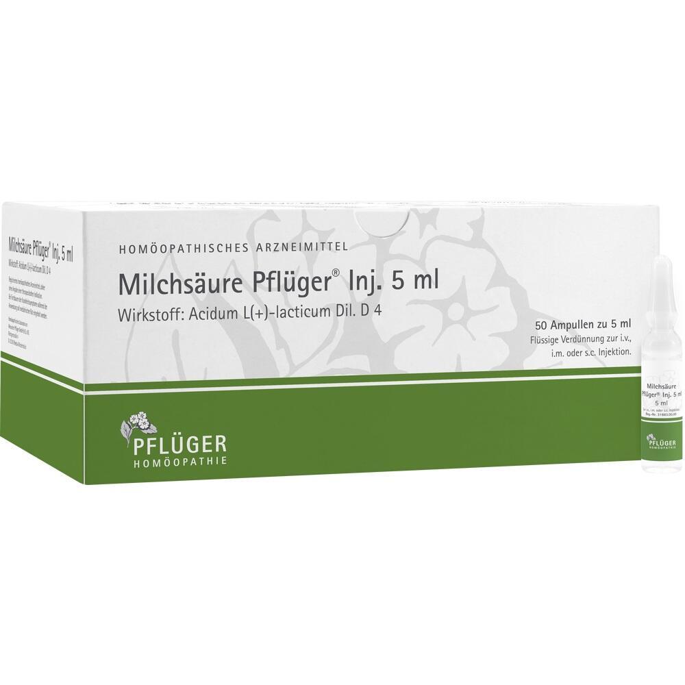 01222412, Milchsäure Pflüger Injektionslösung 5ml, 50 ST