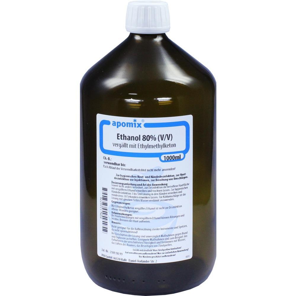 01229779, Ethanol MEK denaturatum 80%, 1 L