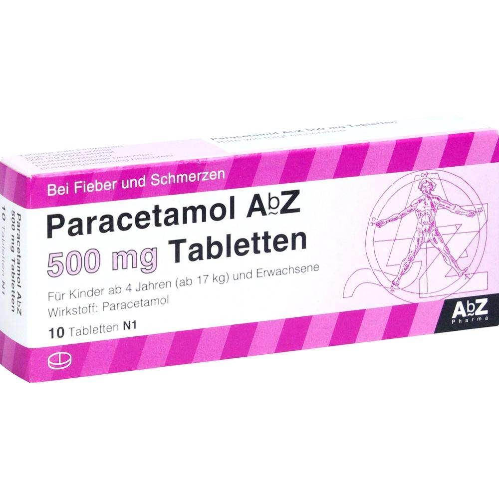 01234473, Paracetamol AbZ 500mg Tabletten, 10 ST