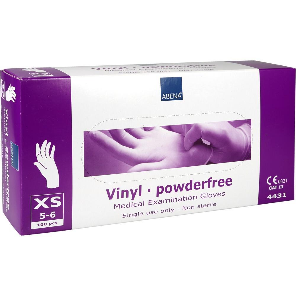 01235254, Vinyl Handschuhe X-Small ungepudert, 100 ST
