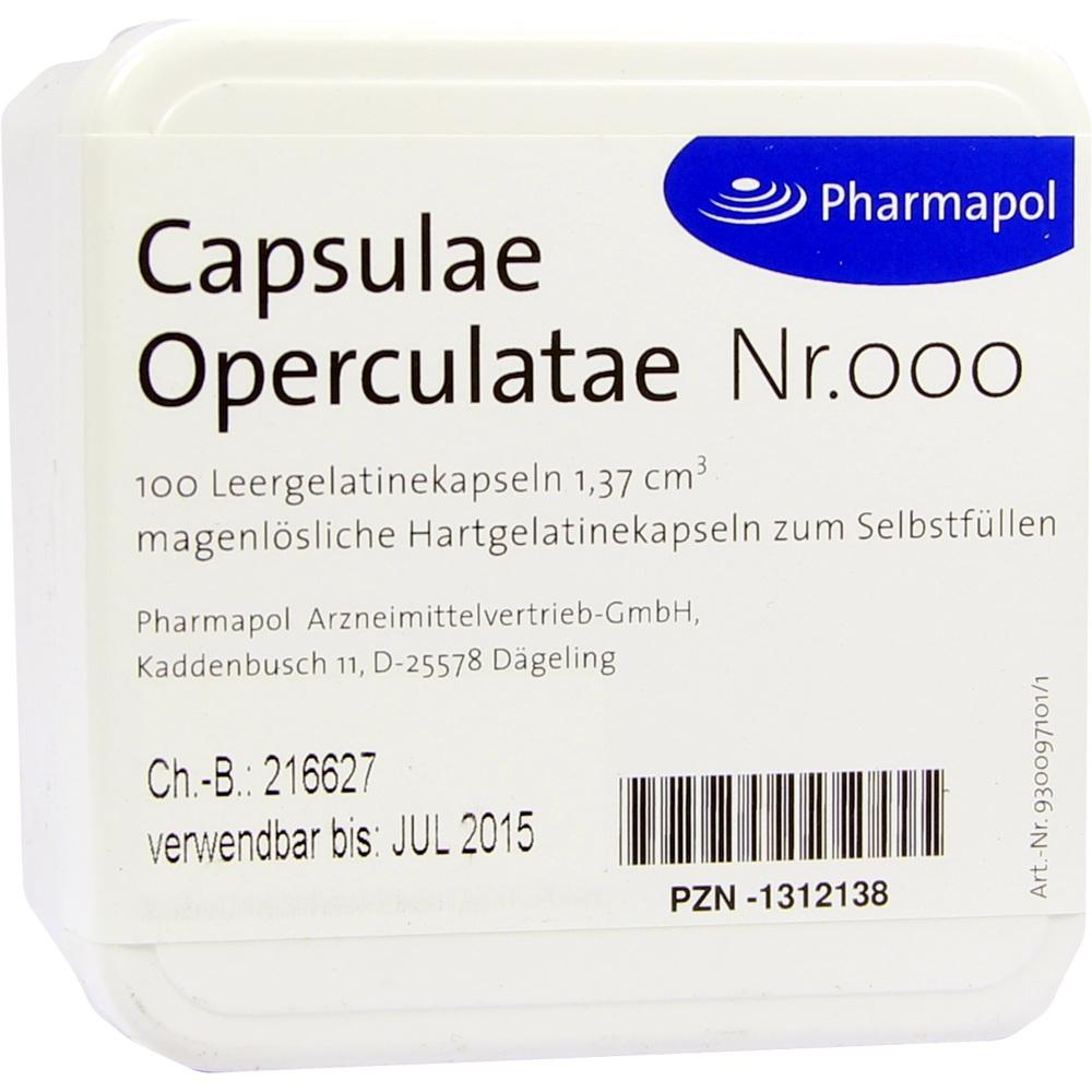 CAPSULAE Operculatae Kapseln Nr.000 1,37