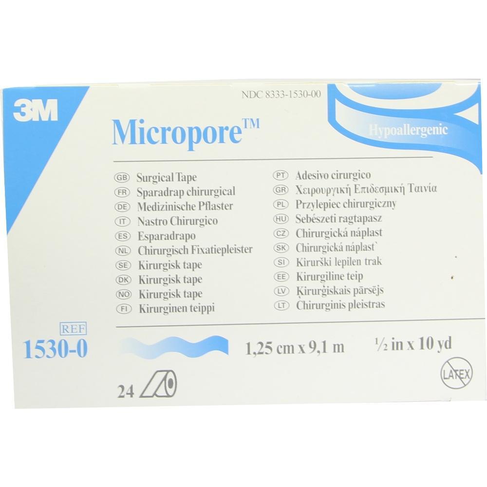 01319732, MICROPORE WEI 9.10MX1.25CM, 24 ST