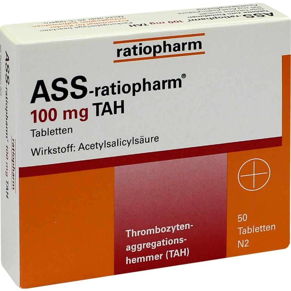 01343676, Ass-ratiopharm 100mg TAH, 50 ST