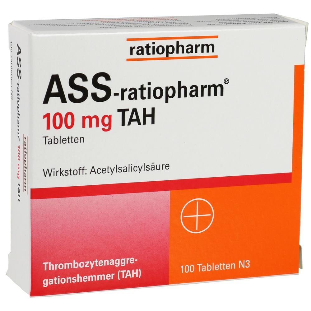 01343682, Ass-ratiopharm 100mg TAH, 100 ST