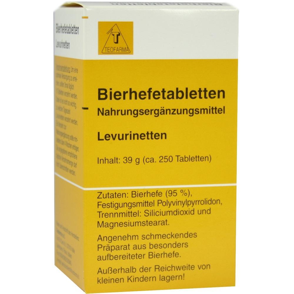 Teofarma s.r.l. BIERHEFE TABLETTEN Levurinetten 01352209
