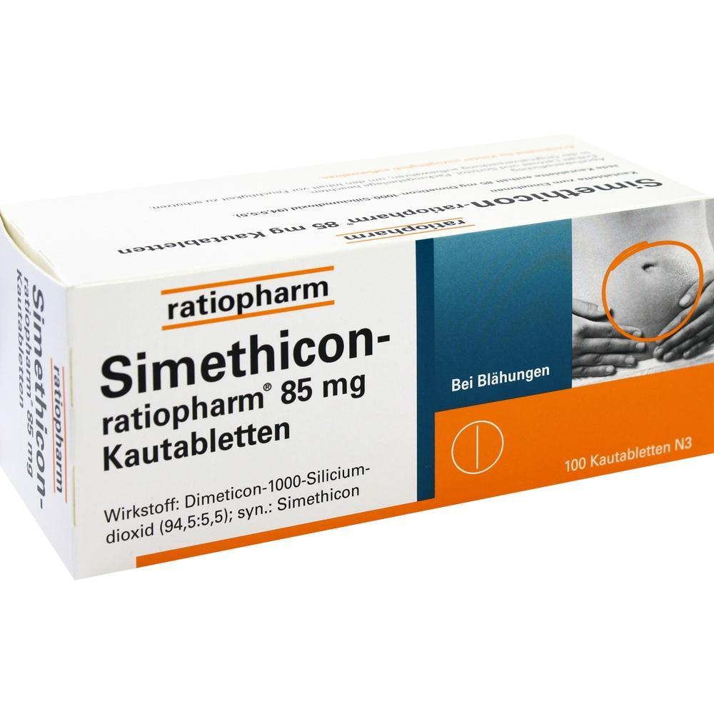 01364804, Simethicon-ratiopharm 85MG Kautabletten, 100 ST