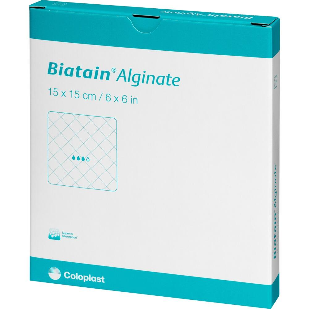 BIATAIN Alginate Kompressen 15x15 cm