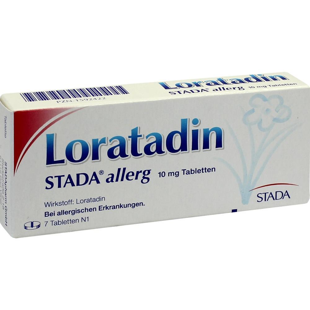 01592422, Loratadin STADA allerg 10mg Tabletten, 7 ST