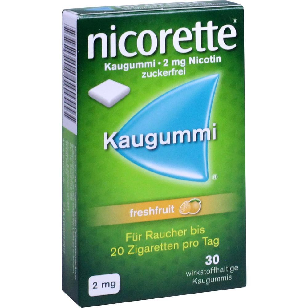 01639589, Nicorette 2mg Freshfruit Kaugummi, 30 ST