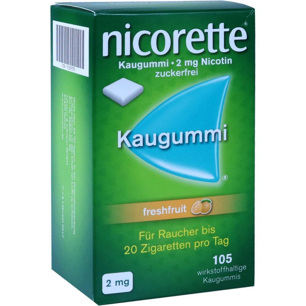 01639595, Nicorette 2mg Freshfruit Kaugummi, 105 ST