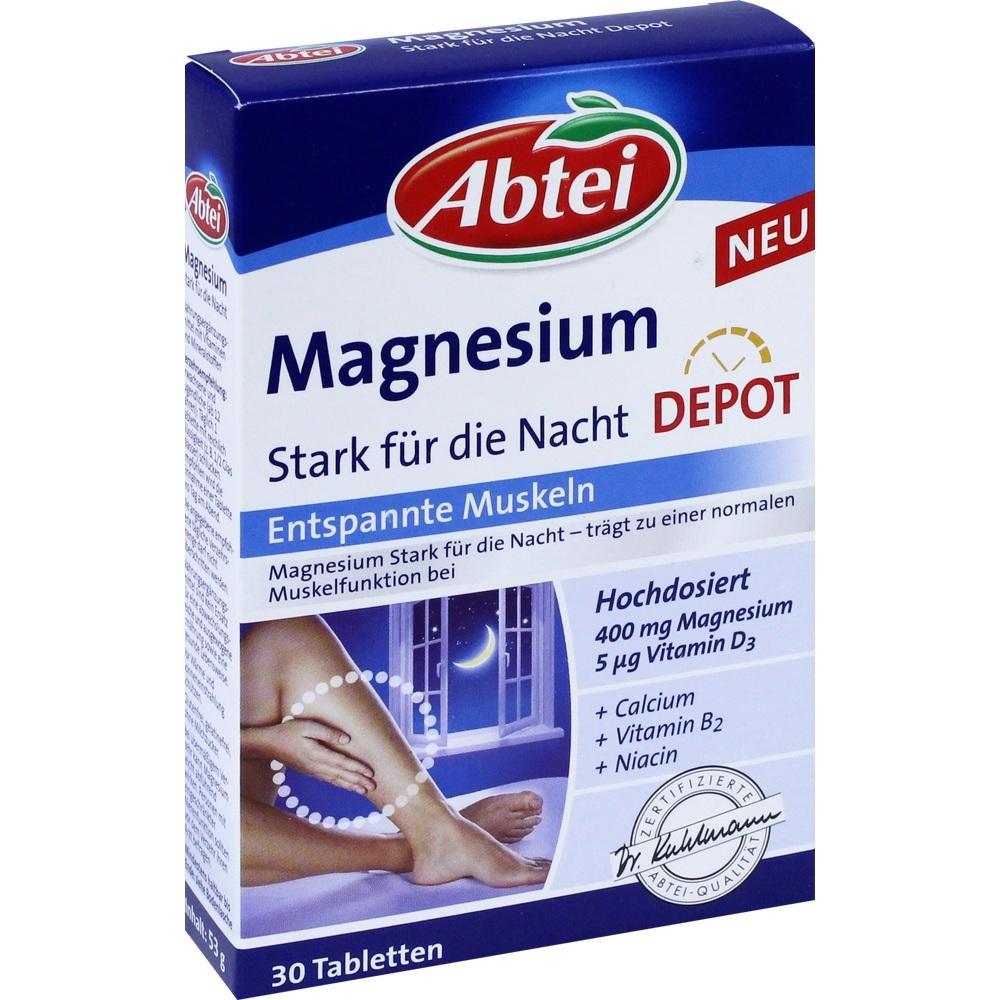 01647666, Abtei Magnesium Stark für die Nacht Depot, 30 ST