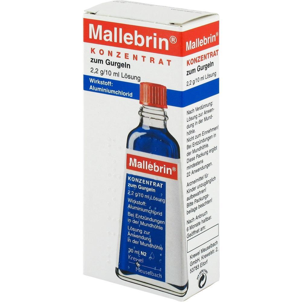 01671104, Mallebrin Konzentrat zum Gurgeln, 30 ML